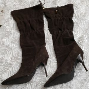 Colin Stuart suede Brown Women's boots size 8.5B